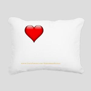 I Love My BFWFB darkappa Rectangular Canvas Pillow