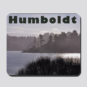 Humboldt County Lake, Green Trees,  Fog  Mousepad