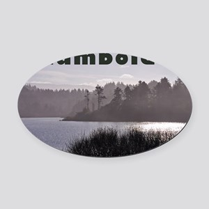 Humboldt County Lake, Green Trees, Oval Car Magnet