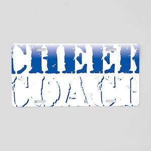 Cheer Coach Blue Aluminum License Plate