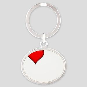 I Love My FWB darkapparel Oval Keychain