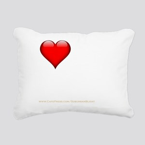 I Love My FWB darkappare Rectangular Canvas Pillow