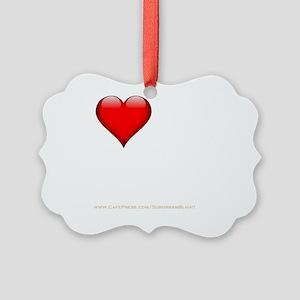 I Love My FWB darkapparel Picture Ornament