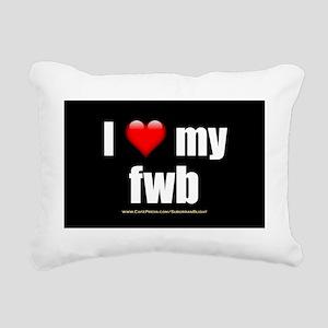 I Love My FWB wallpeel Rectangular Canvas Pillow