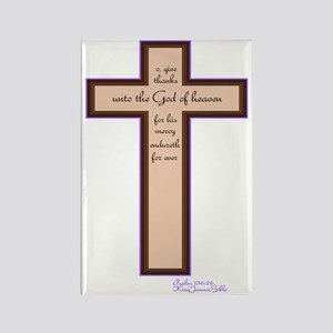 Psalm 136 26 Bible Verse Rectangle Magnet