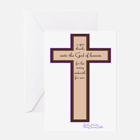 Psalm 136 26 Bible Verse Greeting Card
