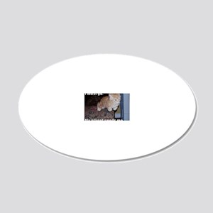 Super Cat 20x12 Oval Wall Decal