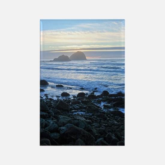 Lost Coast Sunset Rectangle Magnet