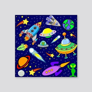 """space shower curtain Square Sticker 3"""" x 3"""""""
