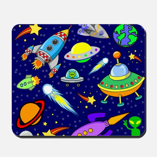 space shower curtain Mousepad