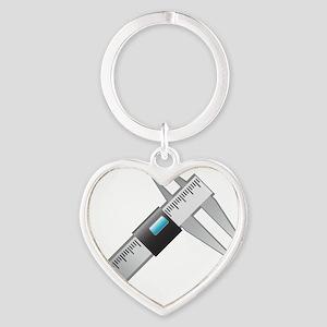 Caliper Heart Keychain