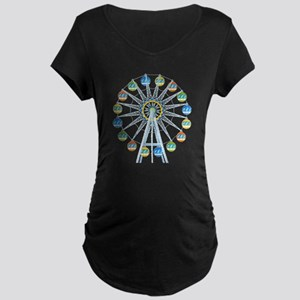 Ferris Wheel Maternity Dark T-Shirt
