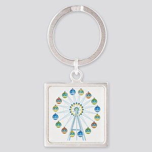 Ferris Wheel Square Keychain
