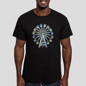 Ferris Wheel Men's Fitted T-Shirt (dark)