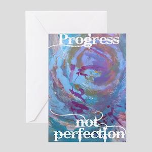 Progress Not Perfection Greeting Card