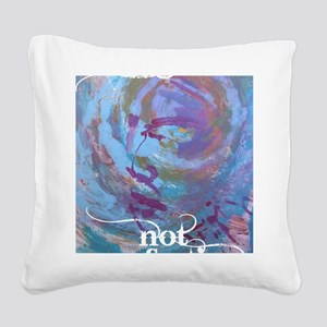 Progress Not Perfection Square Canvas Pillow