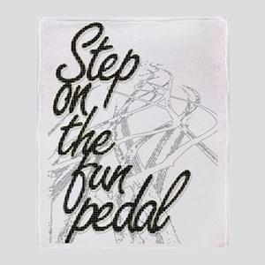 Step on the Fun Pedal Throw Blanket