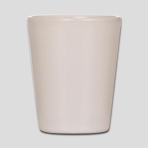 White XXX-Men Logo Shot Glass