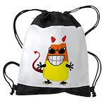Evil Candy Corn Drawstring Bag