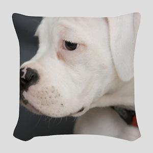 Boxer Puppy Woven Throw Pillow