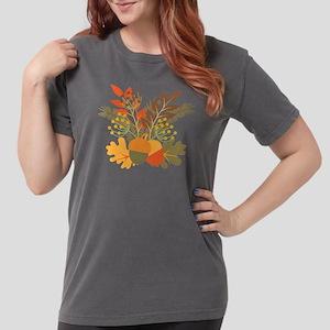 Autumn Floral Acorns Leaves T-Shirt