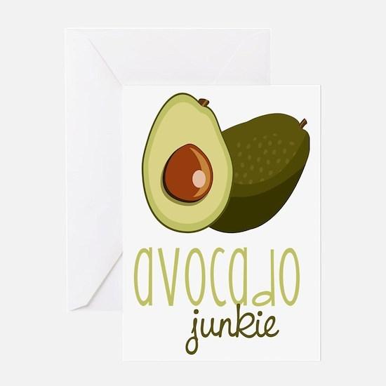 Avocado Junkie Greeting Card