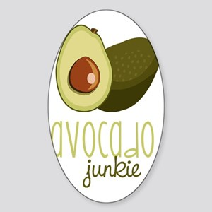 Avocado Junkie Sticker (Oval)