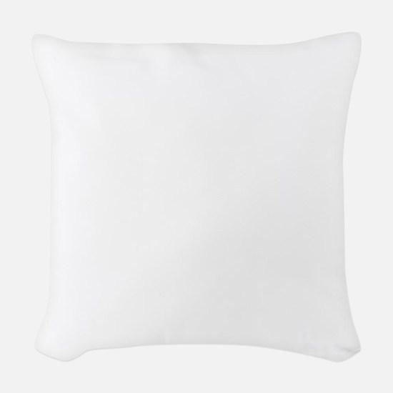 Golden doodle puppy Woven Throw Pillow