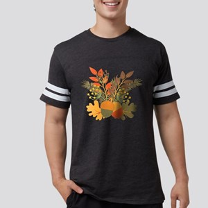 Autumn Floral Acorns Leaves T-Shirt