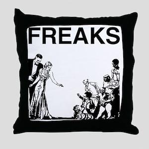 FREAKS design Throw Pillow