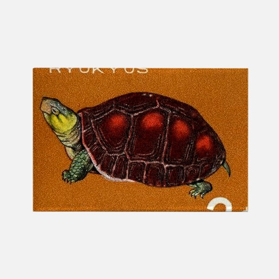 1965 Ryukyu Islands Turtle Postag Rectangle Magnet
