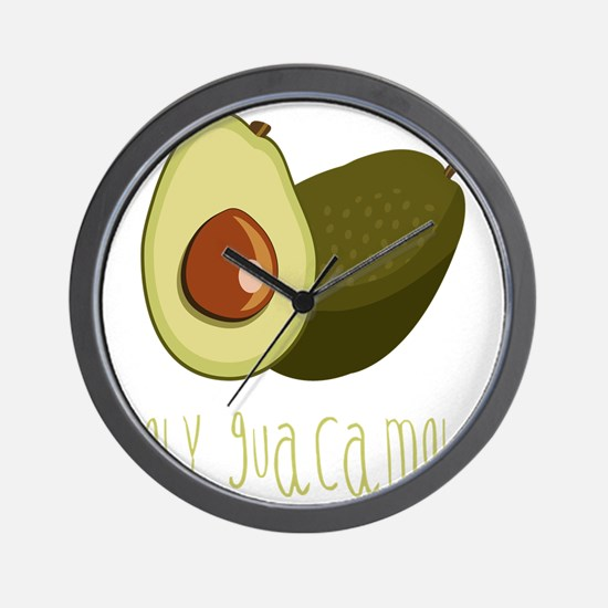 Holy Guacamole Wall Clock