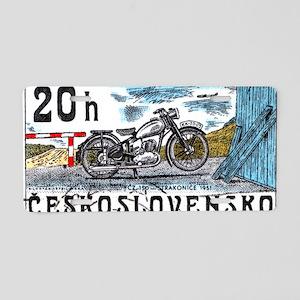 1975 Czechoslovakia Motorcy Aluminum License Plate