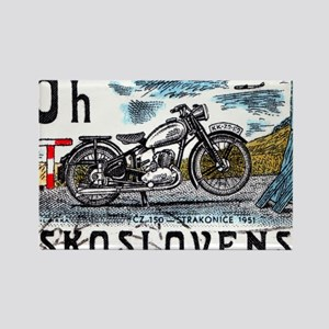 1975 Czechoslovakia Motorcycle Po Rectangle Magnet