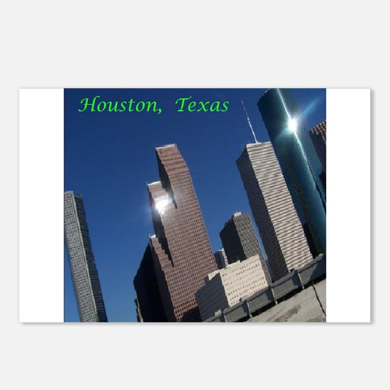 HOUSTON TEXAS SKYSCRAPERS Postcards (Package of 8)