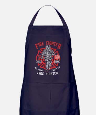 Cute Fire dept Apron (dark)