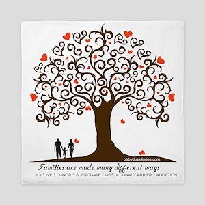 Infertility Family Tree Queen Duvet