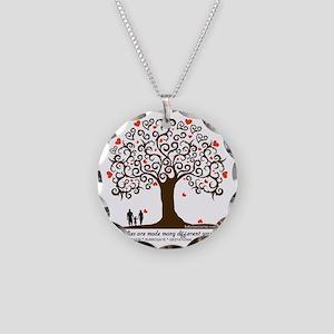 Infertility Family Tree Necklace Circle Charm