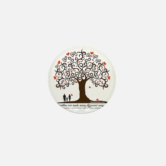 Infertility Family Tree Mini Button