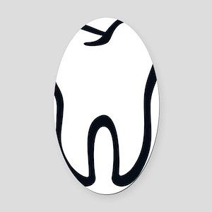 Tooth / Zahn / Dent / Diente / Den Oval Car Magnet