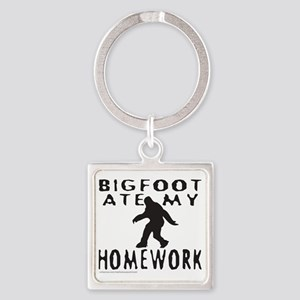 BIGFOOT ATE MY HOMEWORK T-SHIRTS A Square Keychain