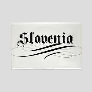 Slovenia Gothic Rectangle Magnet