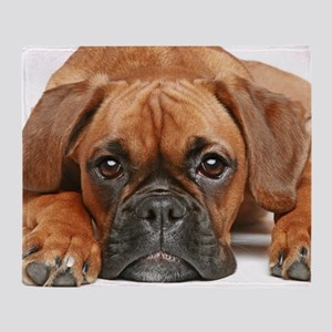 German Boxer dog Throw Blanket
