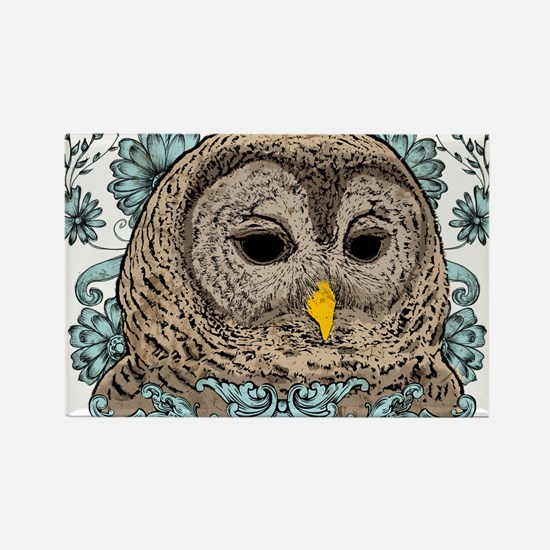 Barred Owl Rectangle Magnet