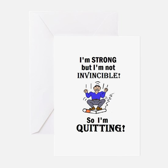 I'M STRONG BUT NOT INVINCIBLE Greeting Cards (Pack