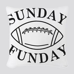 Sunday Funday Woven Throw Pillow