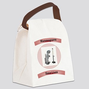 Mammograms Save Lives Canvas Lunch Bag