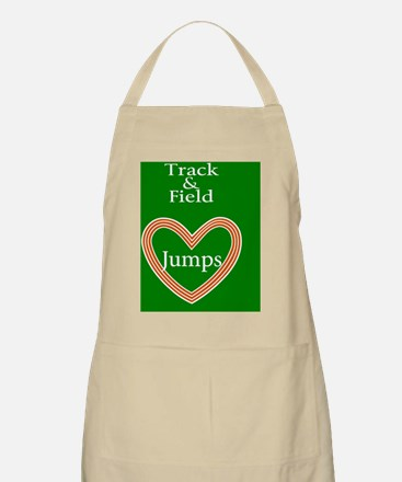 Track and Field Love Jumps Apron