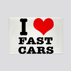 I Heart (Love) Fast Cars Rectangle Magnet