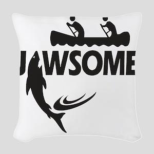 Jawsome Woven Throw Pillow